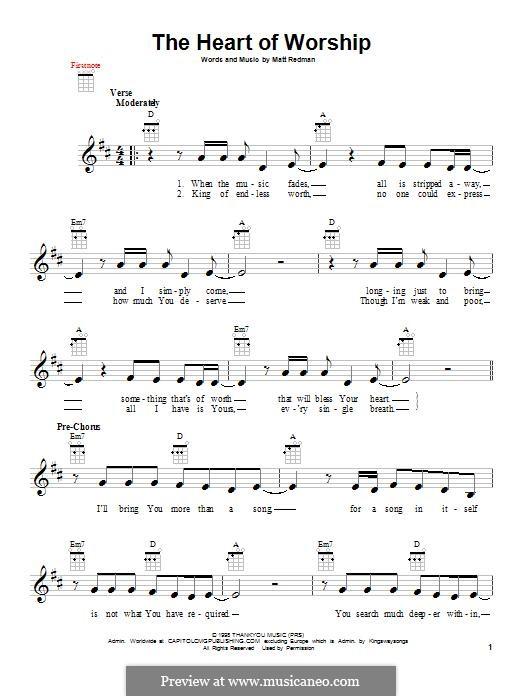 The Heart of Worship: For ukulele by Matt Redman