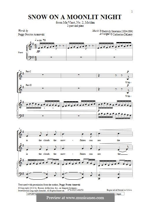 Snow on a Moonlit Night: For mixed choir by Bedřich Smetana