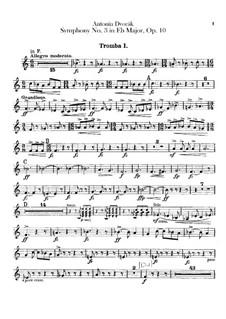 Symphony No.3 in E Flat Major, B.34 Op.10: Trumpets parts by Antonín Dvořák
