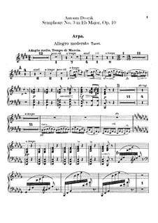 Symphony No.3 in E Flat Major, B.34 Op.10: Harp part by Antonín Dvořák