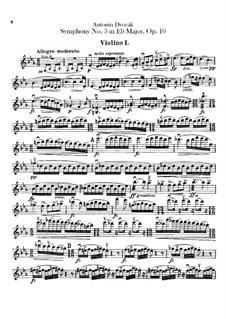 Symphony No.3 in E Flat Major, B.34 Op.10: Violin I parts by Antonín Dvořák