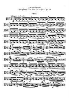 Symphony No.3 in E Flat Major, B.34 Op.10: Viola parts by Antonín Dvořák