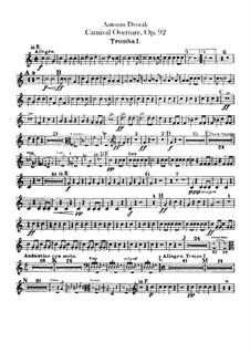 Carnival, B.169 Op.92: Trumpets parts by Antonín Dvořák