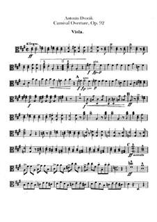 Carnival, B.169 Op.92: Viola parts by Antonín Dvořák