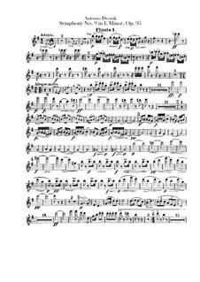 Complete Symphony: Flutes parts by Antonín Dvořák