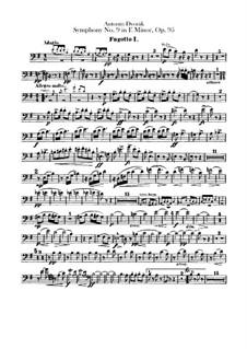 Complete Symphony: Bassoons parts by Antonín Dvořák