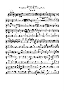 Complete Symphony: French horns parts by Antonín Dvořák
