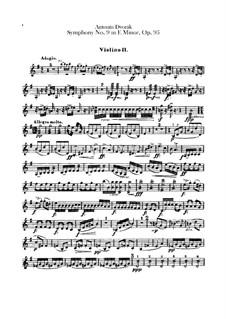 Complete Symphony: Violin II parts by Antonín Dvořák