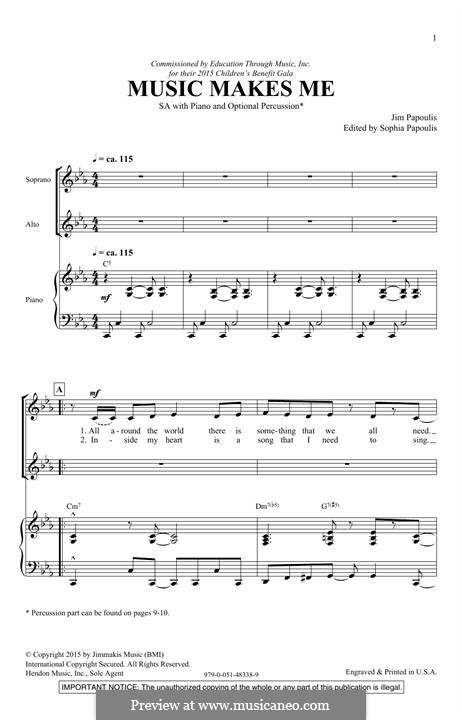 Music Makes Me: For mixed choir by Jim Papoulis