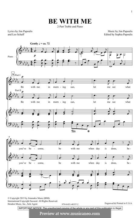 Be with Me: For mixed choir by Jim Papoulis