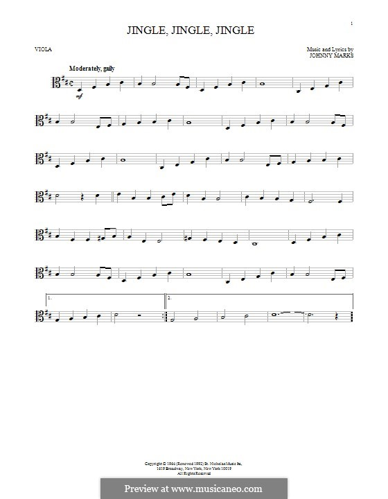 Jingle, Jingle, Jingle: For viola by Johnny Marks