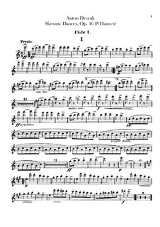 Book I: Flutes parts by Antonín Dvořák