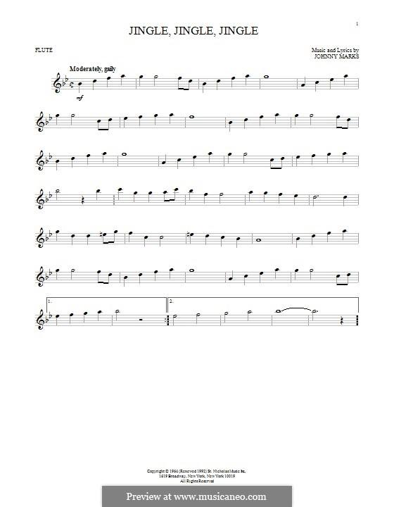 Jingle, Jingle, Jingle: For flute by Johnny Marks