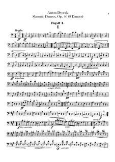 Book I: Bassoons parts by Antonín Dvořák