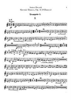 Book I: Trumpets parts by Antonín Dvořák