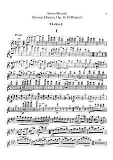 Book I: Violins I parts by Antonín Dvořák