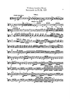 Serenade for Orchestra No.9 in D Major 'Posthorn', K.320: Violas part by Wolfgang Amadeus Mozart
