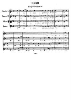 O vos omnes, qui transitis per viam: Vocal score by Tomás Luis de Victoria