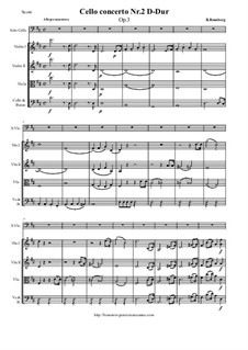 Cello Concerto No.2 in D Major, Op.3: Movement I by Bernhard Romberg