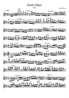 Etude Olga, Op.1: Etude Olga by Ivanandajazz