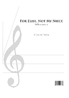 For Elise, WoO 59: Vocal score by Ludwig van Beethoven