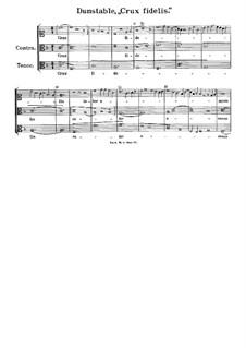 Crux fidelis: Crux fidelis by John Dunstable
