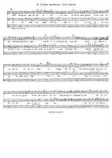 Christe sanctorum: Christe sanctorum by John Dunstable