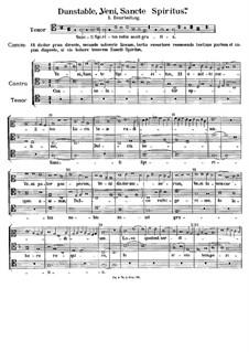 Veni Sancte Spiritus: Veni Sancte Spiritus by John Dunstable