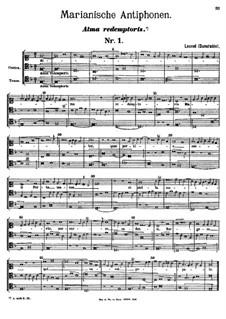Marianische Antiphonen. Alma redemptoris: Marianische Antiphonen. Alma redemptoris by John Dunstable
