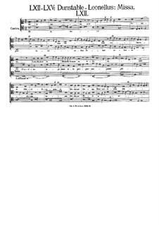 Mass in C Major: Mass in C Major by John Dunstable
