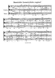 Salve regina mater misericordiae: Salve regina mater misericordiae by John Dunstable