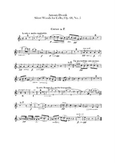 From the Bohemian Forest, B.133 Op.68: No.5 Klid (Silent Woods), for Orchestra – French Horn Part by Antonín Dvořák