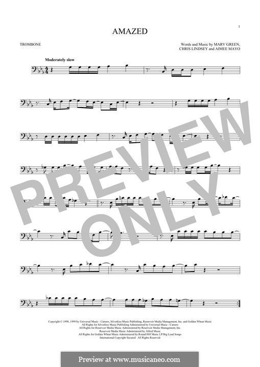 Amazed (Lonestar): For trombone by Aimee Mayo, Chris Lindsey, Marv Green