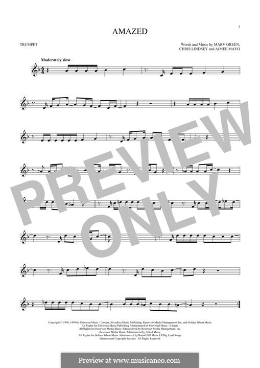 Amazed (Lonestar): For trumpet by Aimee Mayo, Chris Lindsey, Marv Green