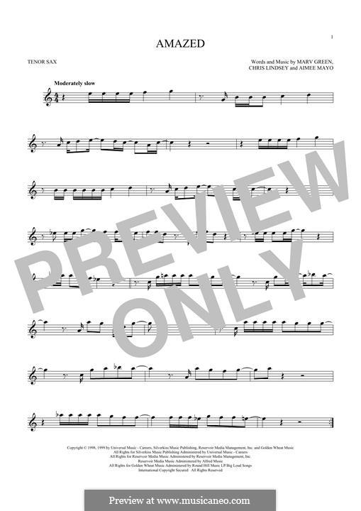 Amazed (Lonestar): For tenor saxophone by Aimee Mayo, Chris Lindsey, Marv Green