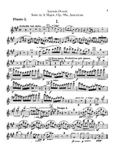 American Suite for Orchestra, B.190 Op.98b: Flutes parts by Antonín Dvořák