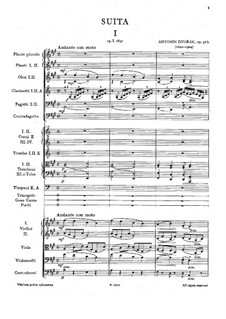 American Suite for Orchestra, B.190 Op.98b: Full score by Antonín Dvořák