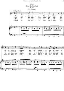 Lied der Freiheit, K.506: Lied der Freiheit by Wolfgang Amadeus Mozart