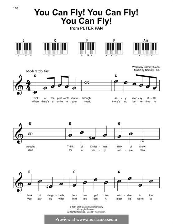 You Can Fly! You Can Fly! You Can Fly!: Melody line by Sammy Fain