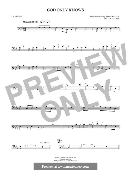 God Only Knows (The Beach Boys): For trombone by Brian Wilson, Tony Asher