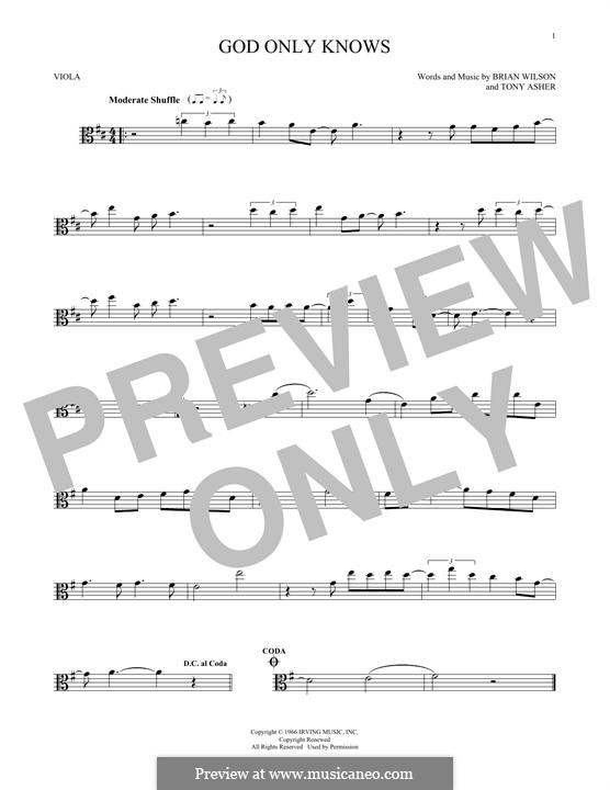 God Only Knows (The Beach Boys): For viola by Brian Wilson, Tony Asher
