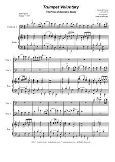 Prince of Denmark's March (Trumpet Voluntary): Trombone duet - piano accompaniment by Jeremiah Clarke