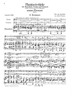 Fantastic Pieces for Piano Trio, Op.88: Full score by Robert Schumann