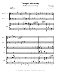 Prince of Denmark's March (Trumpet Voluntary): For brass quartet - piano accompaniment by Jeremiah Clarke