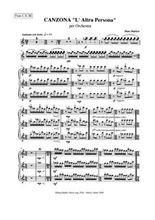 Canzona L'Altra Persona per orchestra: Parts by Hans Bakker