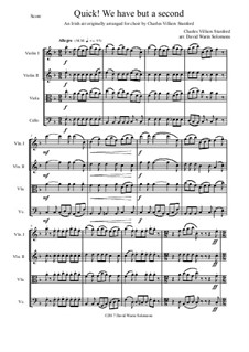 Quick we have but a second: For string quartet by Charles Villiers Stanford, folklore