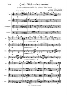 Quick we have but a second: For woodwind quartet by Charles Villiers Stanford, folklore