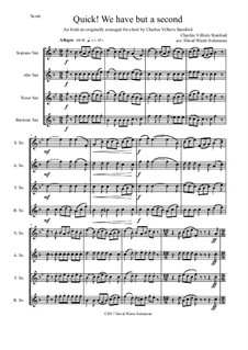 Quick we have but a second: For saxophone quartet by Charles Villiers Stanford, folklore