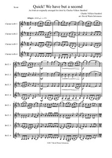 Quick we have but a second: For clarinet quartet by Charles Villiers Stanford, folklore