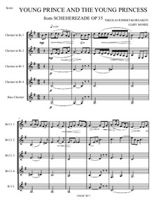 Scheherazade, Op.35: Movement III, for clarinets quintet by Nikolai Rimsky-Korsakov